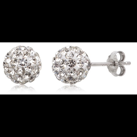 5eda82241 Jewelry   Sterling Silver 925 Crystal Ball Stud Earrings   Poshmark